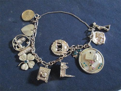 Estate Jewelry Gold Charm Bracelet