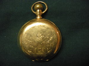 14k gold pocketwatch