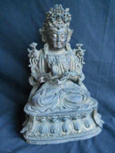 17th or 18th Bronze Chinese Buddha brought over $3,100 in our April 2003 Auction