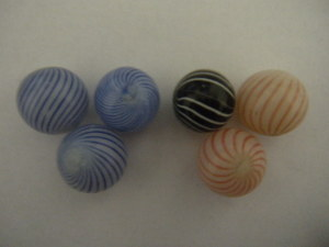 Clambroth marbles brought $950 at our October 2009 auction