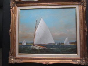20th century oil painting by Vern Broe sold for over $900 in our April auction