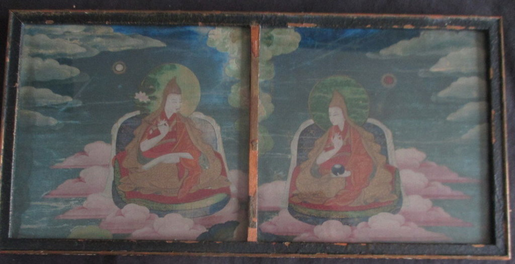 Small Asian painting on silk brought $345 at our last antique estates auction