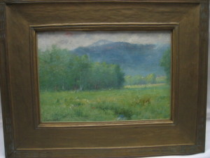 Smaller Greenwood paintings like this one of Mt. Wachusett sell in the $2,000 to $4,000 range at our auctions
