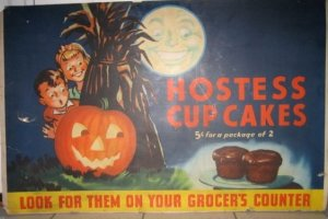 Retro Halloween advertising poster sold for $100's in our April 2006 auction despite damage
