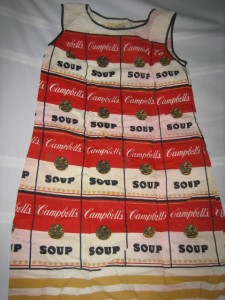 Campbell's Soup paper dress from our May 2006 auction