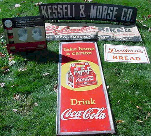 Antique & Vintage Advertising Signs Auctions | Central Mass
