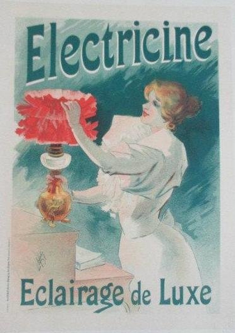 French Electrine advertising sign