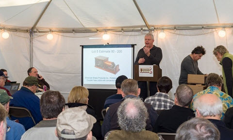 Many bidders (and buyers) turned out at our radio-collection auction in Carlisle